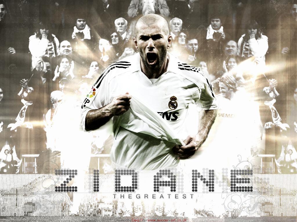 Zinedine Zidane football poster